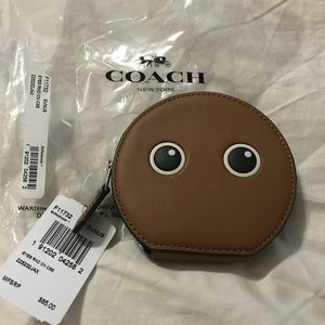 NWT Coach round coin purse